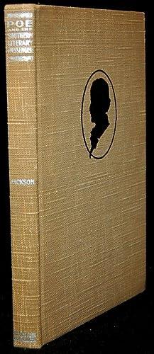 POE AND THE SOUTHERN LITERARY MESSENGER: David K. Jackson; J. H. Whitty (Foreward)
