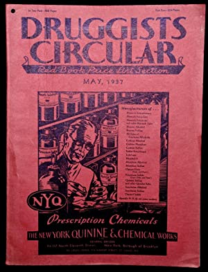 THE DRUGGISTS'; CIRCULAR. RED BOOK PRICE LIST SECTION. MAY, 1937. VOLUME LXXXI NO. 5
