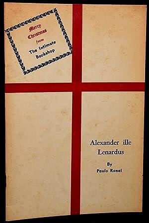 ALEXANDER ILLE LENARDUS: THE MAN WHO TAUGHT WINNIE-THE-POOH TO SPEAK LATIN: Paulo Ronai
