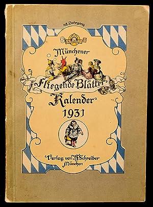 MUNCHENER FLIEGENDE BLATTER KALENDAR FUR 1931