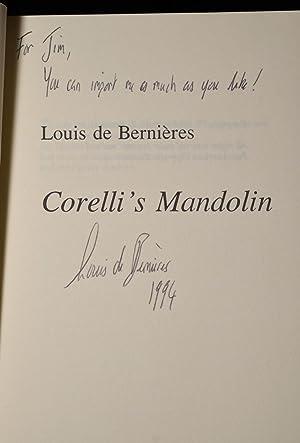 CORELLI';S MANDOLIN (Signed): Louis De Bernieres