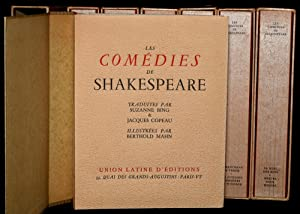 LES COMEDIES DE SHAKESPEARE (7 VOLUMES; COMPLETE SET): William Shakespeare] | Translated by Suzanne...
