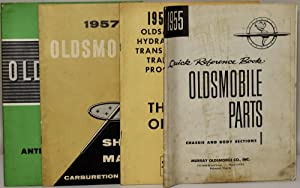 GROUP OF FOUR OLDSMOBILE MANUALS: (1) 1955