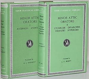 MINOR ATTIC ORATORS. IN TWO VOLUMES. VOL.: Antiphon. Andocides. Lycurgus.