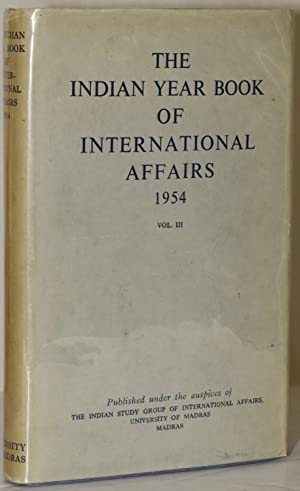 THE INDIAN YEAR BOOK OF INTERNATIONAL AFFAIRS: Alexandrowicz, Charles Henry