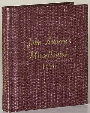 JOHN AUBREY'S MISCELLANIES: Aubrey, John