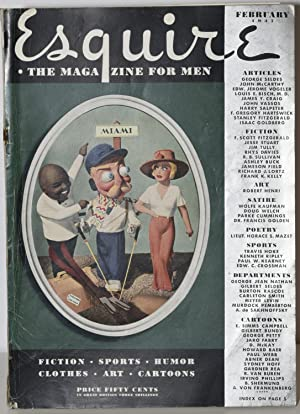 ESQUIRE. THE MAGAZINE FOR MEN. FEBRUARY 1937: F. Scott Fitzgerald; Jim Tully; Arnold Gingrich, ...