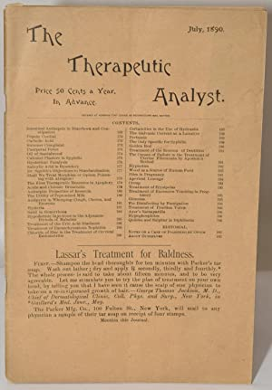 THE THERAPEUTIC ANALYST July 1890: Edward P. Brewer, M.D., Ph.D., Editor