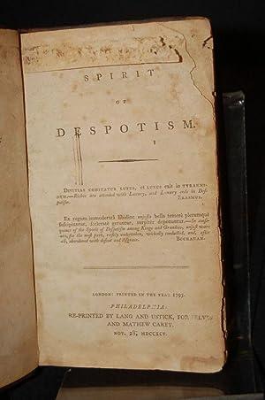 THE SPIRIT OF DESPOTISM: Vicesimus Knox]