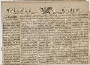 COLUMBIAN CENTINEL (No. 2681; Boston, MA; Wednesday, December 13, 1809)