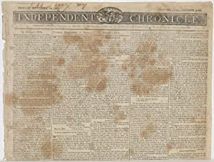 INDEPENDENT CHRONICLE (Monday September 14, 1807; Volume XXXIX, Number 2753)