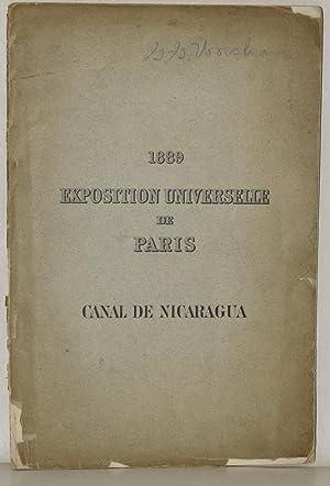 1889 EXPOSITION UNIVERSELLE DE PARIS: CANAL DE NICARAGUA