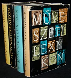 MUVESZETI LEXIKON (4 VOLUME SET): Zador Anna; Genthon Istvan
