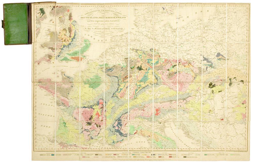 Geognostische Ubersichts Karte Von Deutschland Frankreich