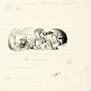 Original signed drawing for Prince Caspian. [p. 143: 'The Dwarf went on ahead ?']
