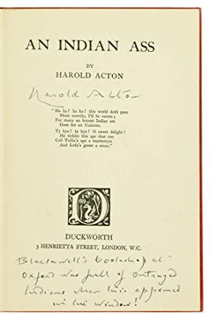 An Indian Ass.: Acton (Harold)