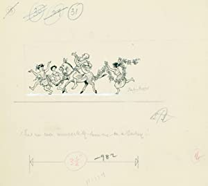 Original signed drawing for Prince Caspian. [p. 139, 'There was even, unexpectedly, someone on a ...
