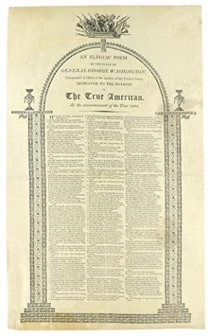 Drop Head Title An Elegiac Poem On Washington George CALDWELL