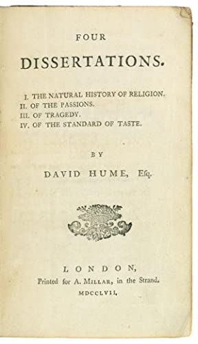Four Dissertations. I. The natural history of: Hume (David)