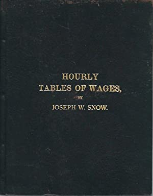 Set of Two Books: Monthly Table of Wages and Hourly Table of Wages: Snow, Joseph W.