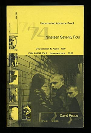 Nineteen Seventy Four; SIGNED PROOF: Peace, David