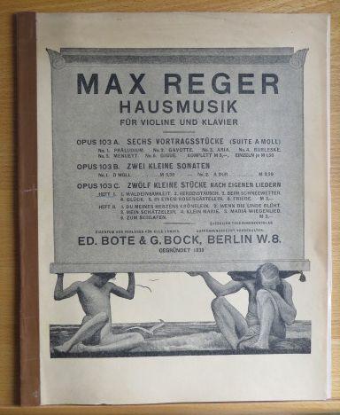 12 Kleine Stücke nach eigenen Liedern für: Reger, Max:
