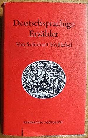 Deutschsprachige Erzähler. Von Schubart bis Hebel. -: Pilling, Dieter (Hrg.):
