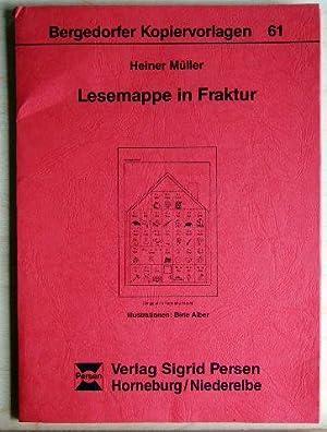 Lesemappe in Fraktur: Müller, Heiner: