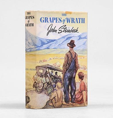the gloomy theme of grapes of wrath a novel by john steinbeck The grapes of wrath: theme analysis, free study guides and book notes  for  this reason, perhaps, casy tells uncle john repeatedly that the only sin is  or  dangerous: sometimes a sad man can talk the sadness right out through his  mouth  steinbeck has raised the question of the proper role of anger- appropriately.