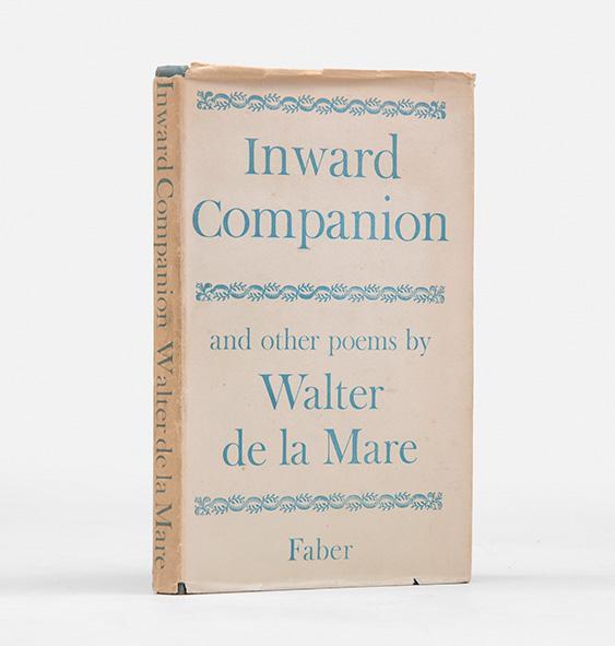 Inward Companion. Poems.: DE LA MARE, Walter.
