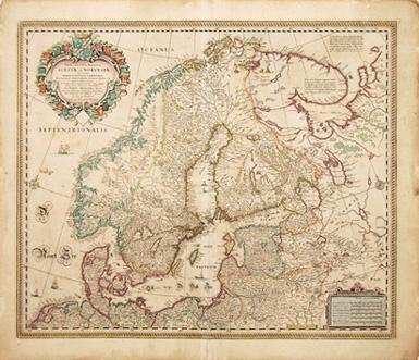 Sueciae Et Norvegiae Sweden And Norway By VISSCHER Nicolaus - Map sweden 1650