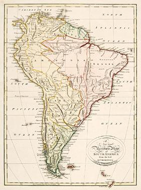 A New and Accurate Map of SOUTH AMERICA (South America) [ ] (bi_2717930212) photo