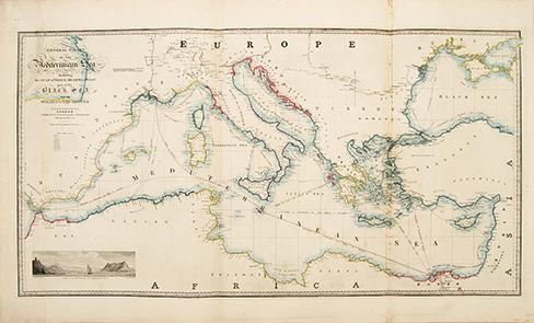 General Chart of the Mediterranean Sea Including: Wyld, James, 1812-1887