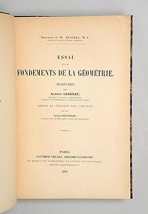 Essai sur les fondements de la géométrie. Traduction par Albert Cadenant, revue et ...