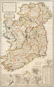 A New Map of Ireland divided into Provinces, Counties and Baronies.according to the newest and most...