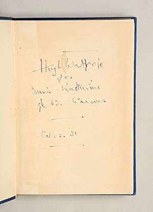 Joseph Conrad.: CONRAD, Joseph.) WALPOLE, Hugh.