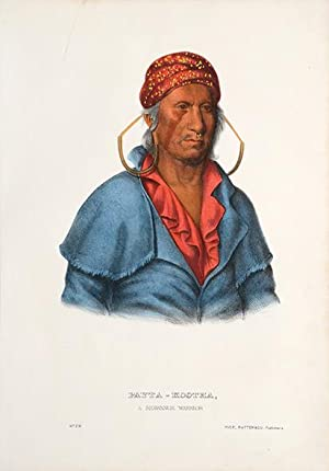 Payta-Kootha, a Shawanoe warrior.: MCKENNEY, Thomas Loraine, & HALL, James.