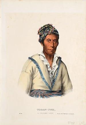 Tooan-Tuh, a Cherokee chief.: MCKENNEY, Thomas Loraine, & HALL, James.