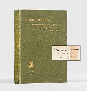 Haud Immemor. Reminiscences of legal and social life in Edinburgh and London 1850-1900.: STEWART, ...