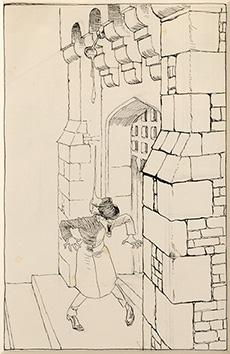 """Original preliminary drawing for Ingoldsby Legends. """"With: RACKHAM, Arthur."""