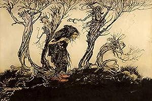 Original watercolour illustration from Little Brother and: RACKHAM, Arthur.