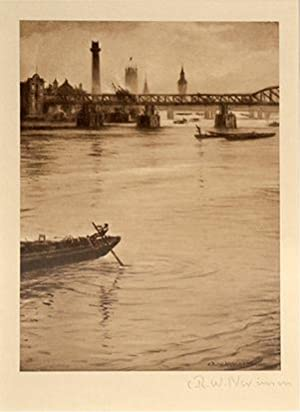 The Thames Looking Towards Westminster.: NEVINSON, C. R. W.