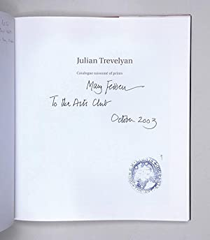 Julian Trevelyan: Catalogue raisonné of prints. With contributions by Norman Ackroyd, ...