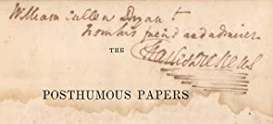Posthumous Papers Pickwick Club, First Edition