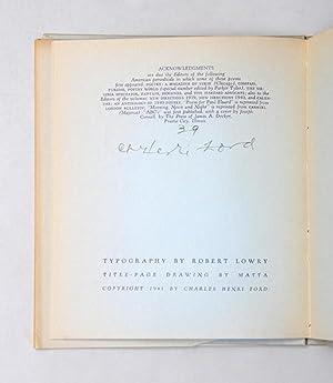 The Overturned Lake.: FORD, Charles Henri (ed.)