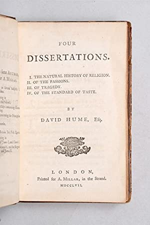 Four Dissertations. I. The Natural History of: HUME, David.