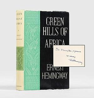 Green Hills of Africa.: HEMINGWAY, Ernest.