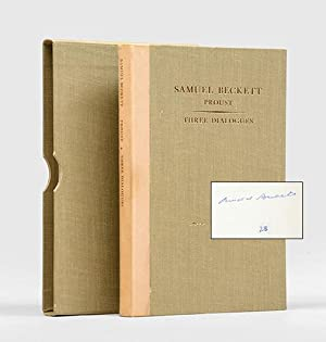 Proust; [and] Three Dialogues.: BECKETT, Samuel, &
