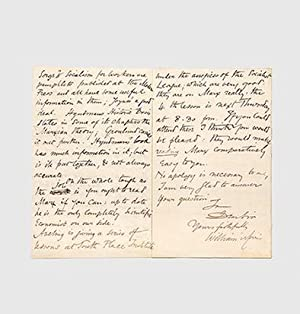 Autograph letter signed to an unknown correspondent: MARX, Karl.) MORRIS,