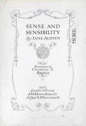 Title page to Sense and Sensibility. Sense: AUSTEN, Jane.) BROCK,